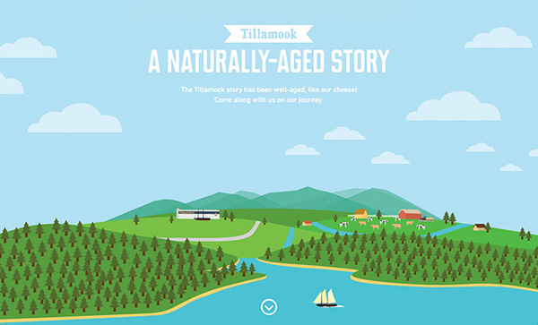 A Naturally-Aged Story Flat Website Design