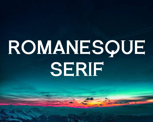 Romanesque Serif free fonts of year 2013