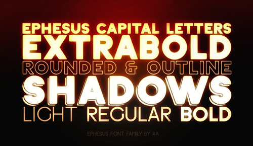 Ephesus free fonts of year 2013