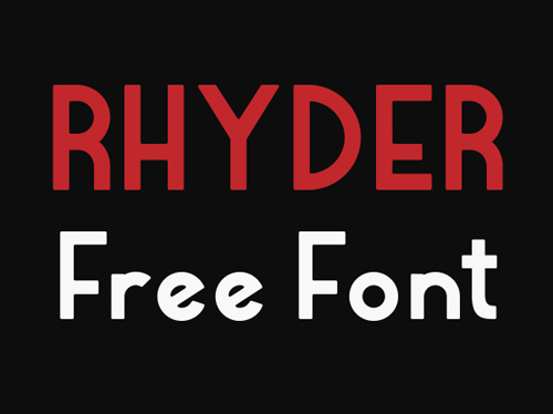 Rhyder free fonts of year 2013