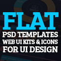 Post Thumbnail of 50 Free Flat Psd Templates and Web Elements For UI Design