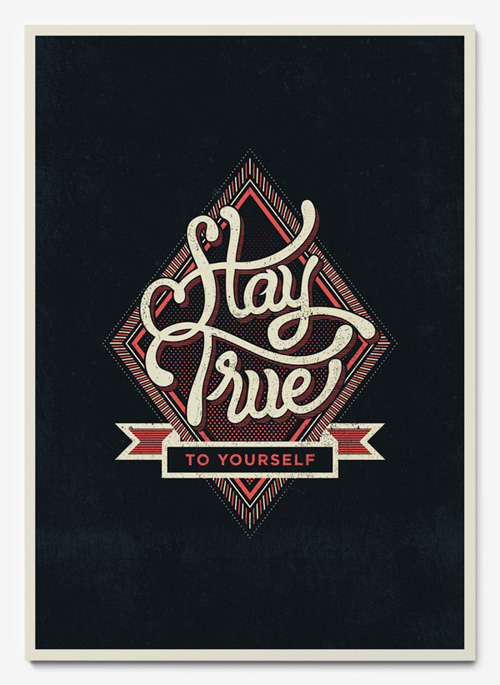 Life Mottos illustrations using handlettered and vector elements