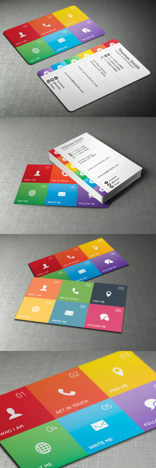 Metro Style Personal Business Cards Design-25