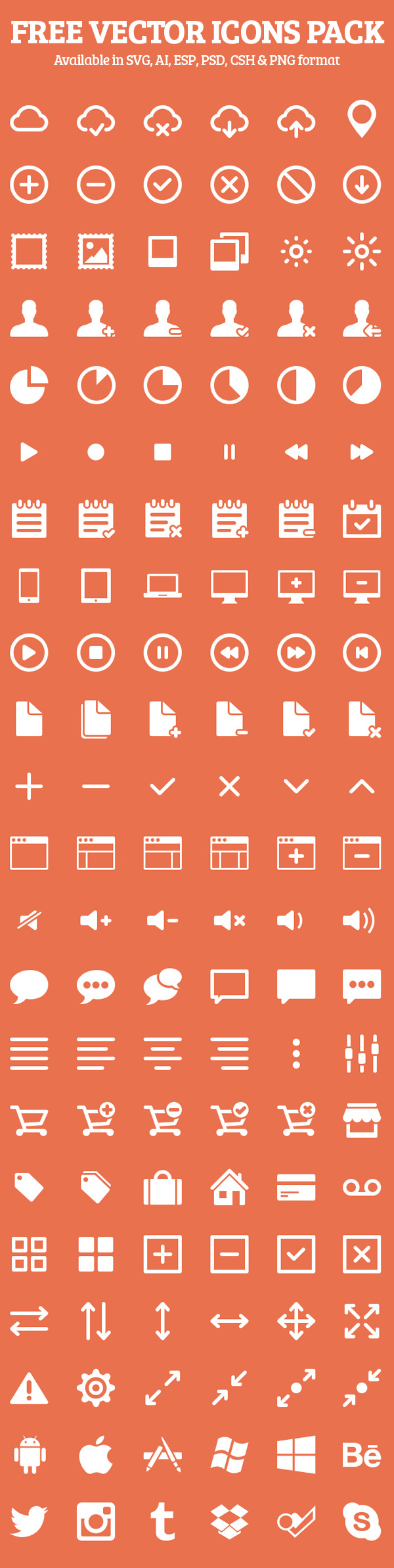 Free Vector Icons Pack Preview 1