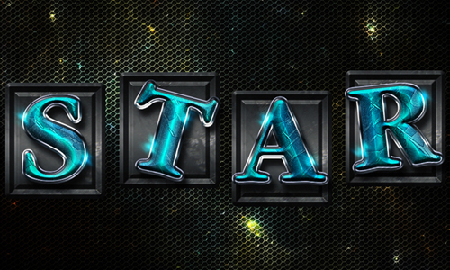 Space Tiles Text Effect in Adobe Photoshop