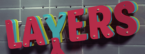 3D Layers Text Effect in Photoshop CS6