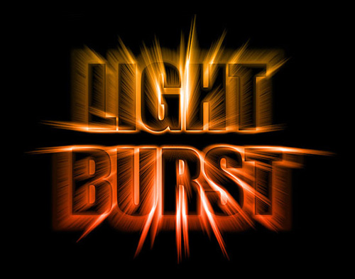 Colorful Light Burst Text Effect With Photoshop CS6