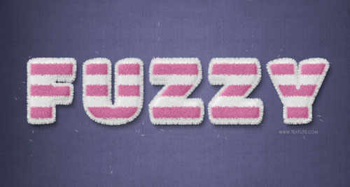 Create Striped Fuzzy Text Effect in Photoshop