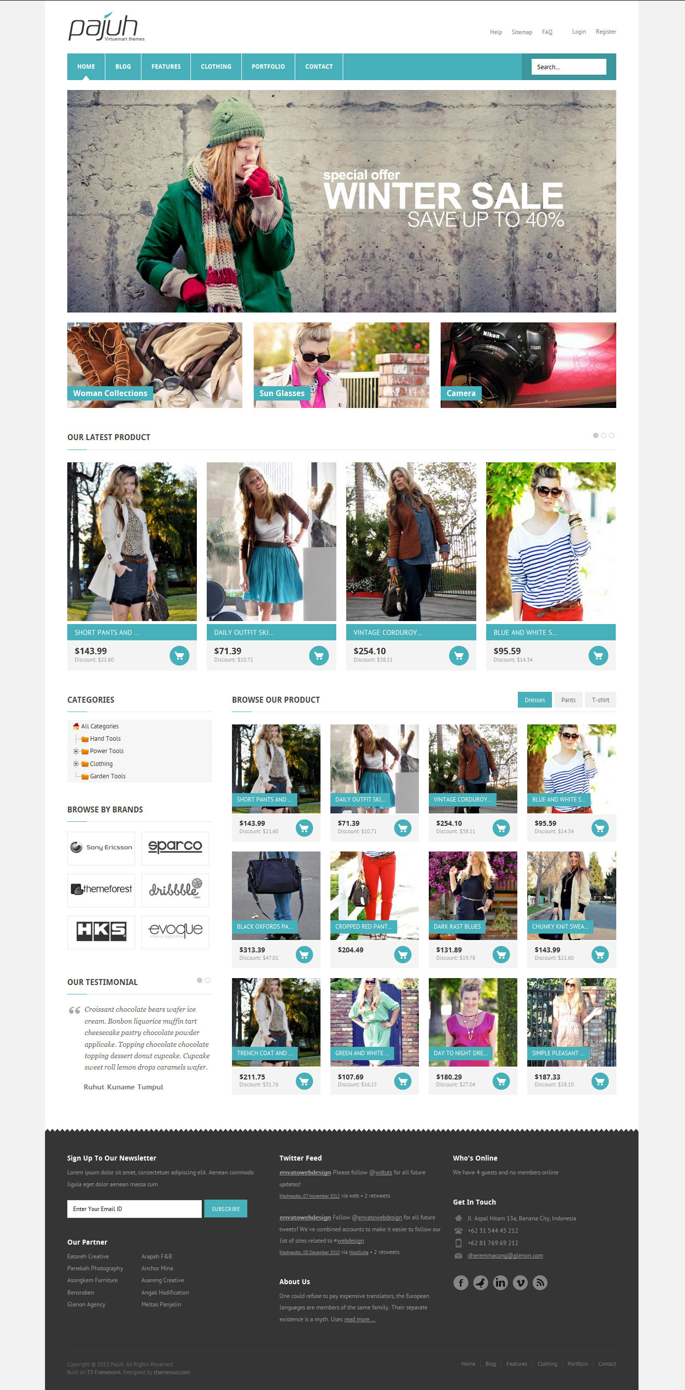 Pajuh - Clean and Responsive Magento Templates