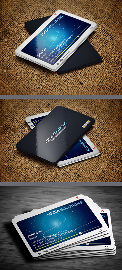 Media Business Card Template