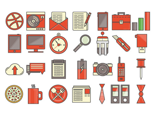 General Flat Icons