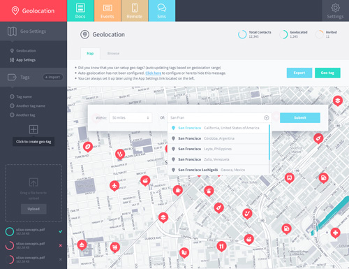 Geolocation Filters UI Design Concepts to Boost User Experience