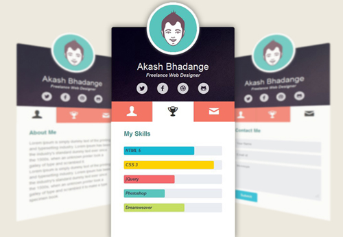 Mini Online Profile UI Design Concepts to Boost User Experience