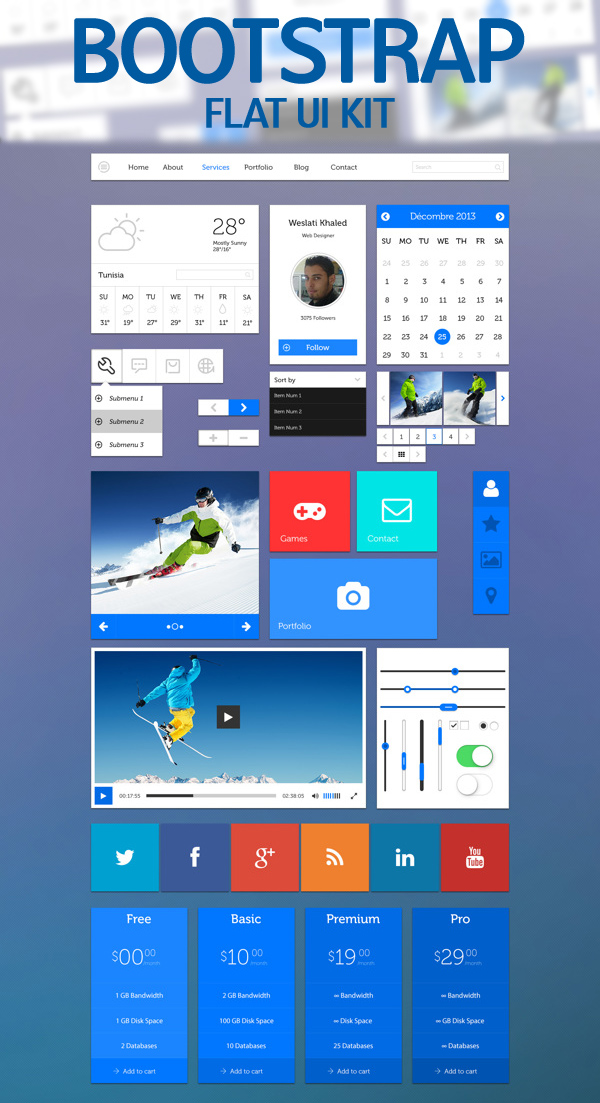 Bootstrap Flat UI KIT for Free