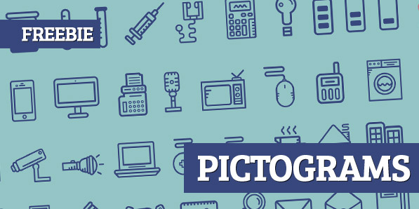70 Beautiful Pictogams (Free Icons) for UI Design