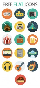 Free flat icons preview