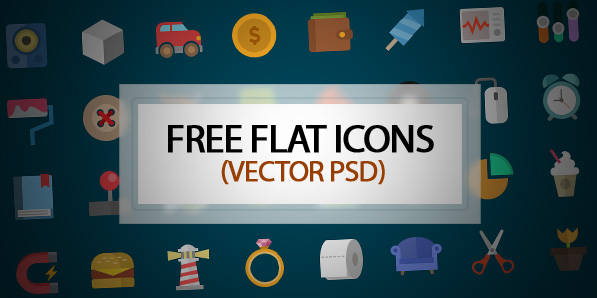 Colorful Flat Vector Icons – Free Download