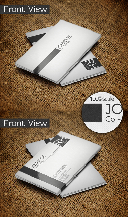 simple and corporate businesscard