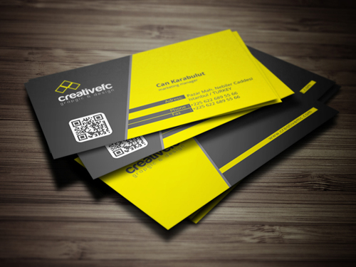 Fully Editable Eps and Ai files Corporate Business Cards Print Read