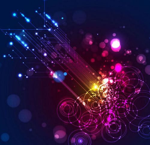 Abstract Lighting Vector Background - 15
