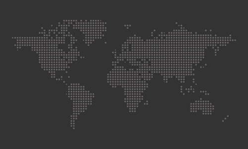 Dotted World Map Vector - 6