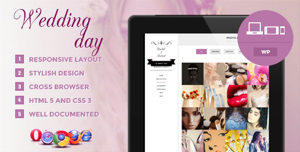 Wedding Day Premium WordPress Theme