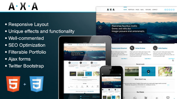 AXA Premium WordPress Theme