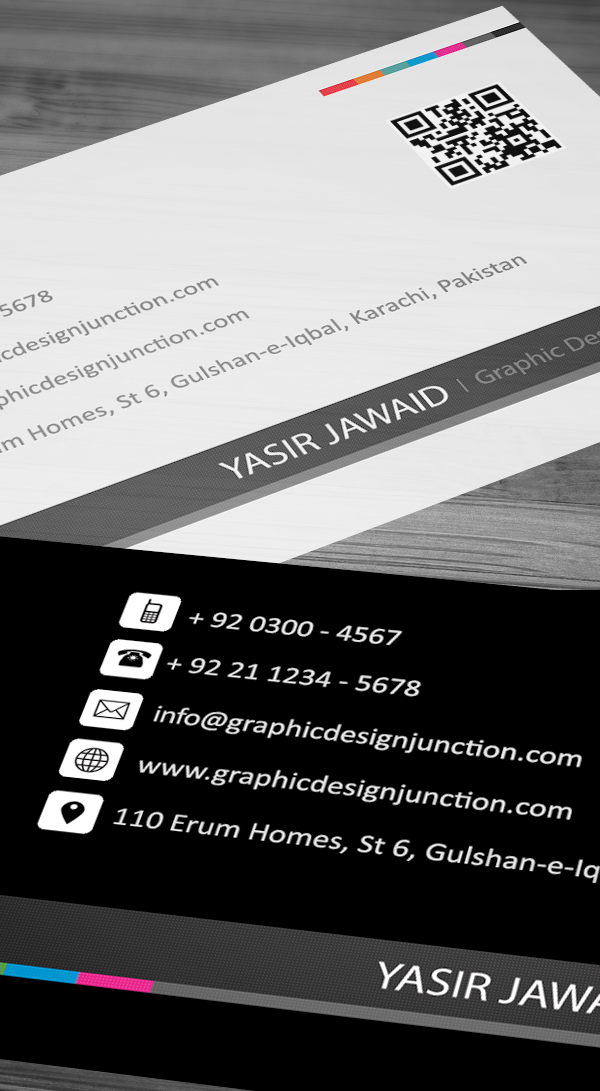 Creative business card mockup pixel pefect view