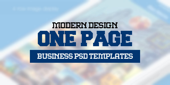 15 Modern One Page Business Psd Templates
