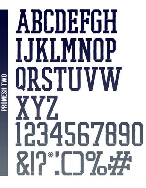 PROMESH TWO - A Free Athletic Font