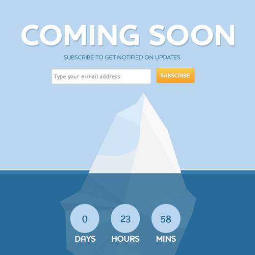 Coming Soon (Free PSD)