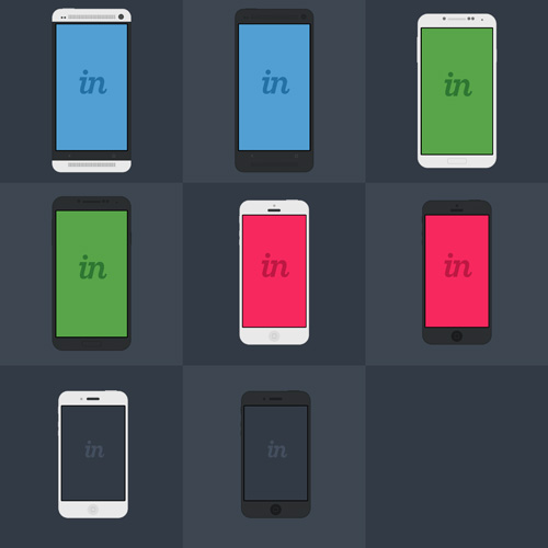 iPhone and Android PSD