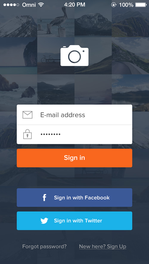 Sign In PSD