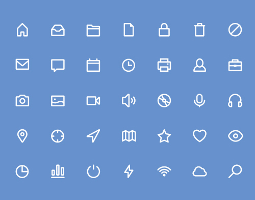 Free Stroke Icons Pack (35 Icons)