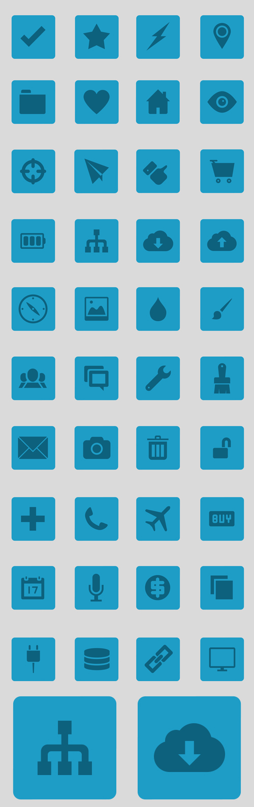 UI Icons (4 different styles) (40 Icons)