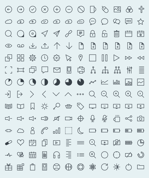 Vector Stroke Icons (168 Icons)