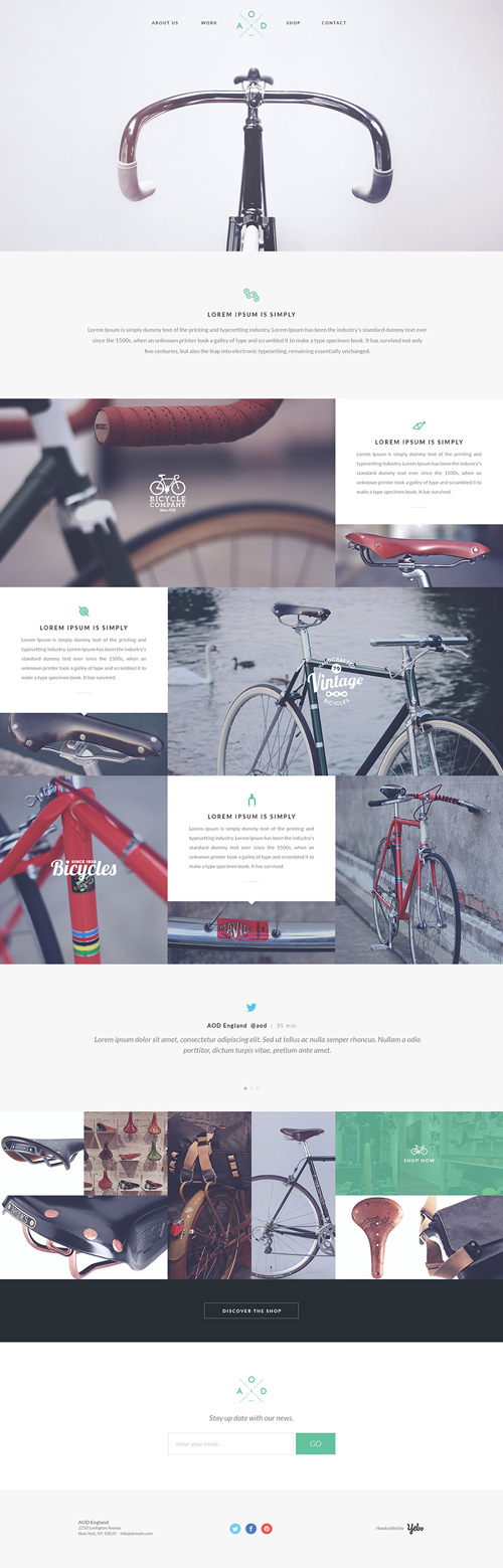 Free OnePage PSD Template