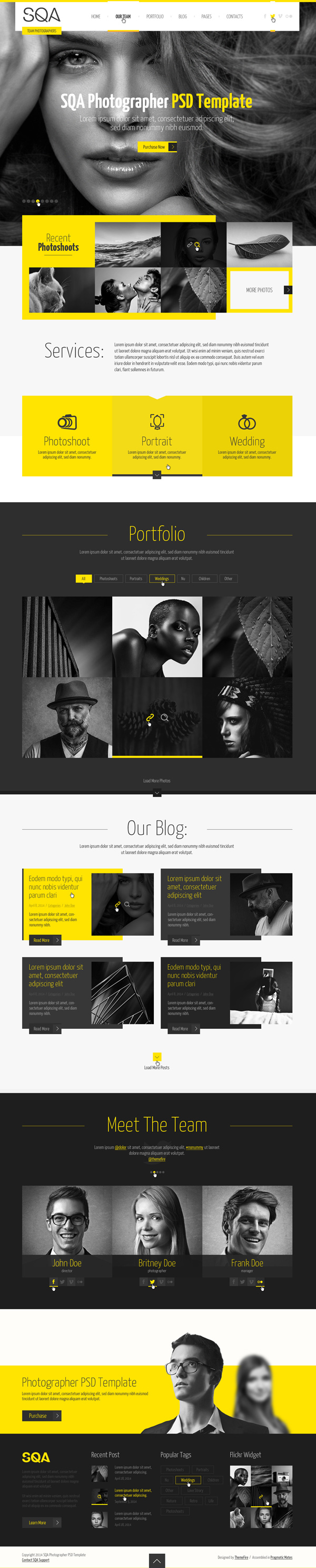 SQA - One Page PSD HTML5 Template