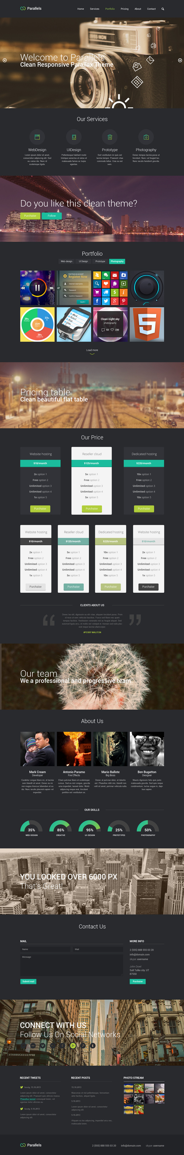 Parallels PSD Responsive Template