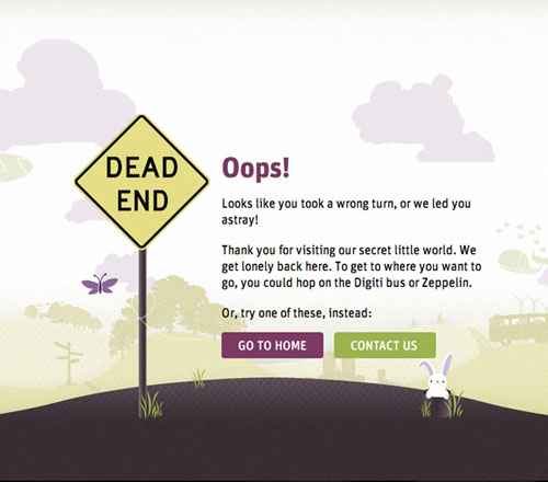 404 Page Designs – 32 Fresh Error Pages Examples - 15