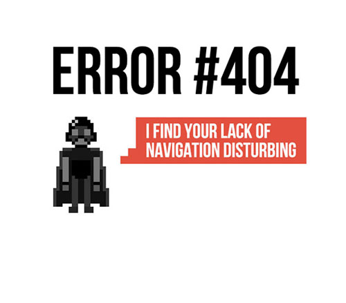 404 Page Designs – 32 Fresh Error Pages Examples - 20