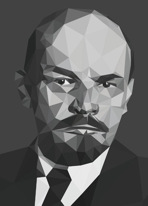 Low-Poly Portrait Illustrations for Inspiration - 20