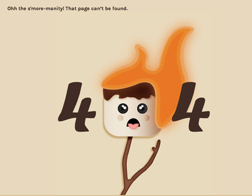 404 Page Designs – 32 Fresh Error Pages Examples - 25