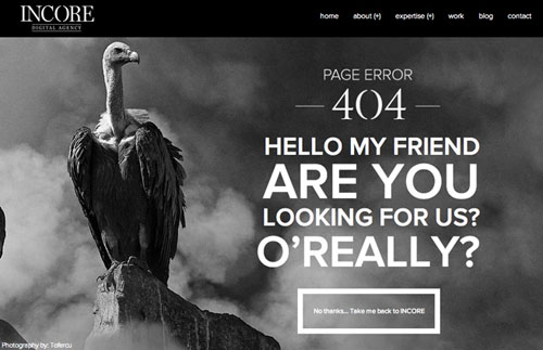 404 Page Designs – 32 Fresh Error Pages Examples - 32