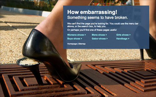 404 Page Designs – 32 Fresh Error Pages Examples - 7
