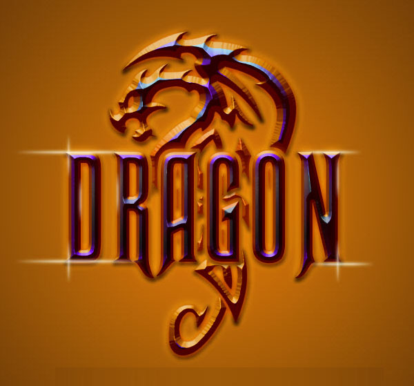 Dragon Metallic Logo Effect with Photoshop