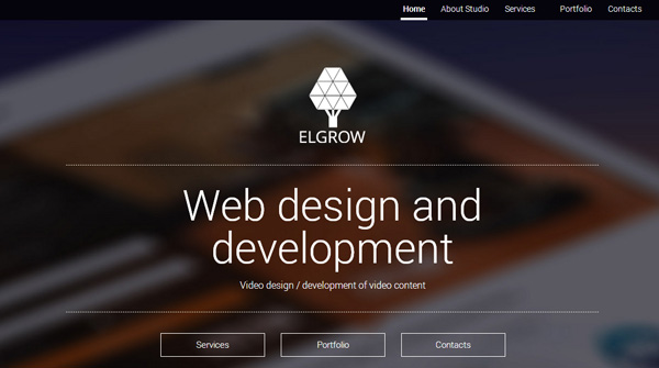 Website Design with a Blurred Image Background