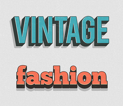 Vintage Layer Styles PSD files