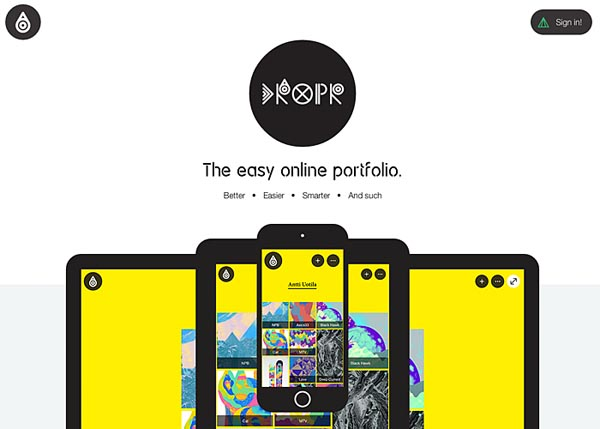 Dropr: The easy online portfolio