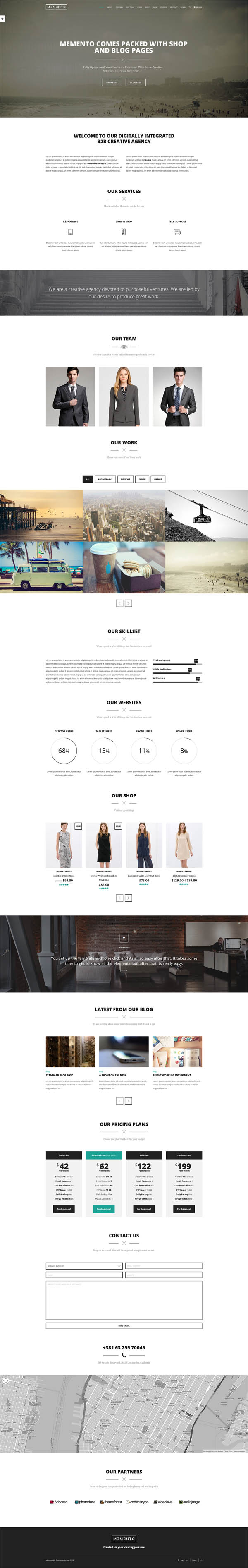 Memento - One Page WordPress Theme With WooCommerce
